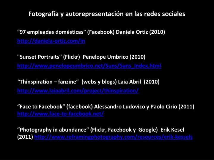 Fotografía y autorepresentación en las redes sociales