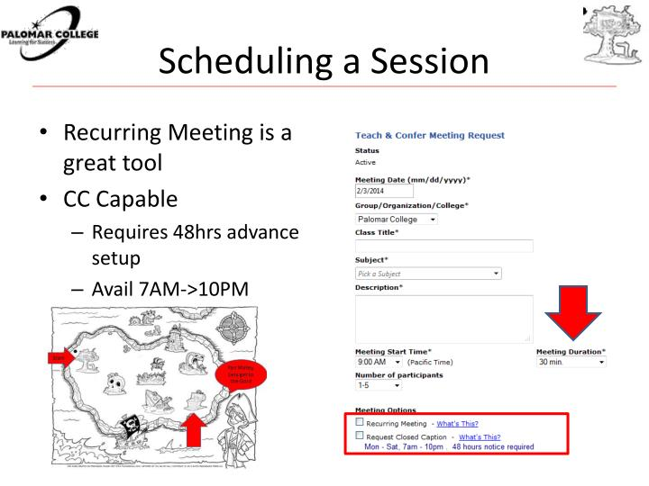 Scheduling a Session
