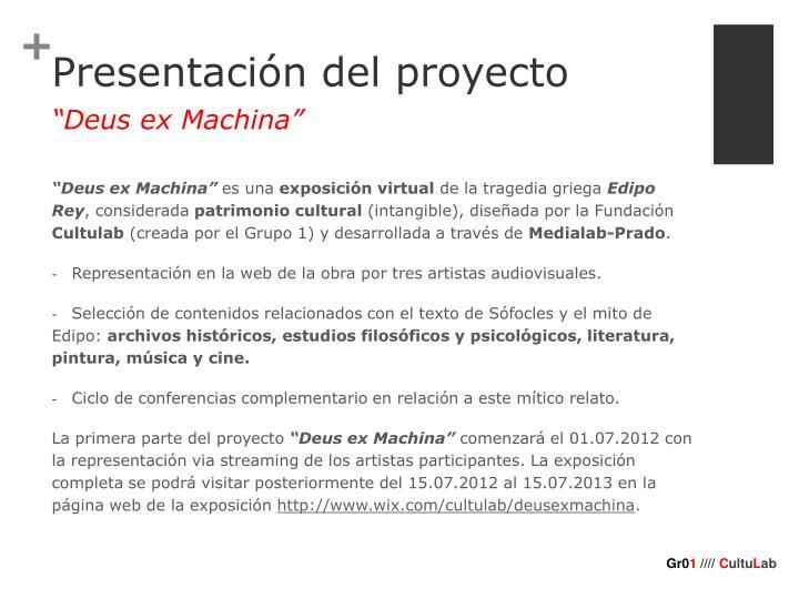 Presentaci n del proyecto1
