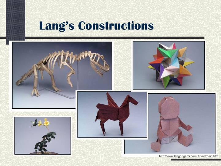 Lang's Constructions