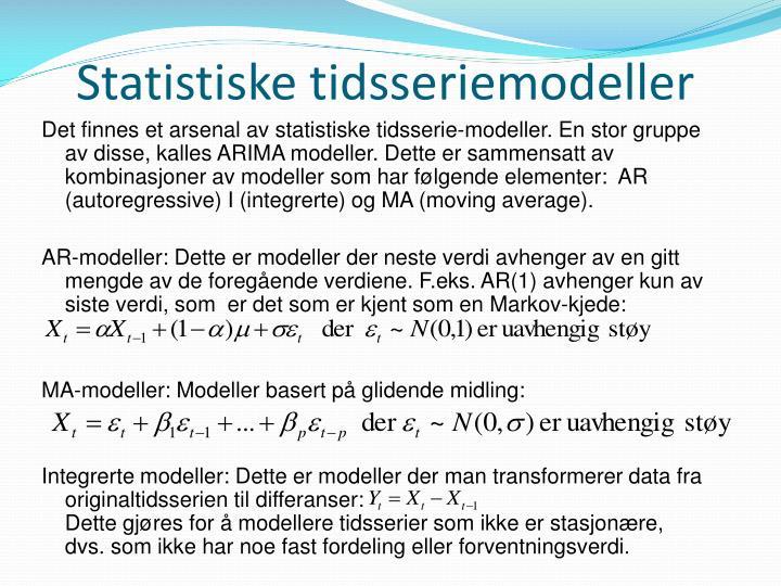 Statistiske tidsseriemodeller