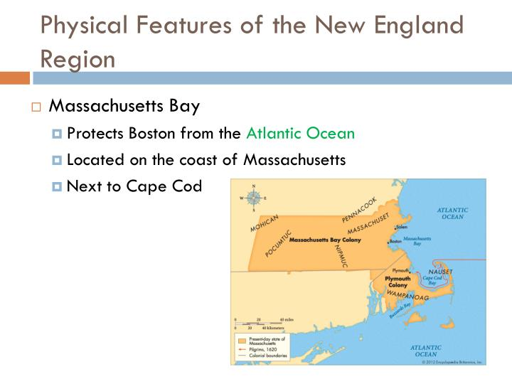 Physical Features of the New England Region
