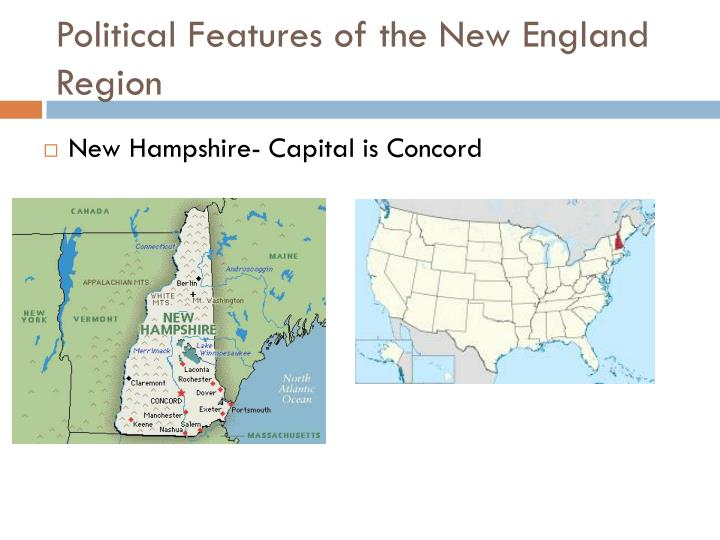 Political features of the new england region1