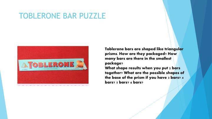 Toblerone bar puzzle