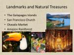 landmarks and natural treasures