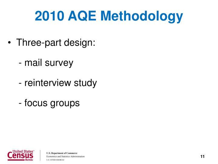 2010 AQE Methodology