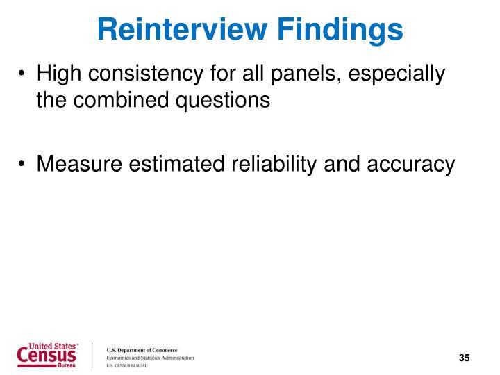 Reinterview Findings