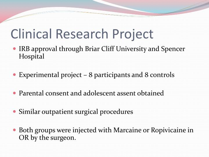 Clinical Research Project