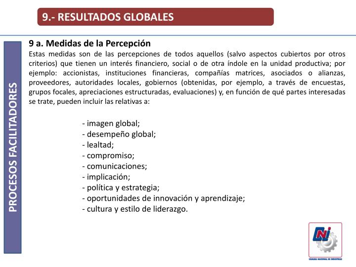 9.- RESULTADOS GLOBALES