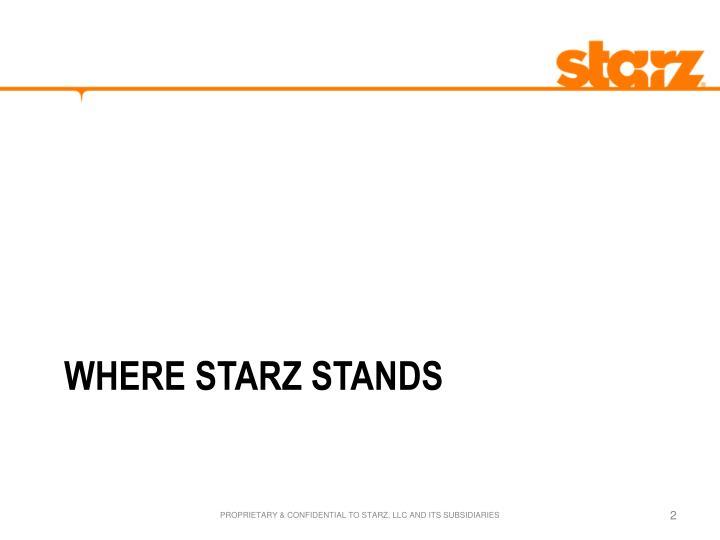 Where starz stands