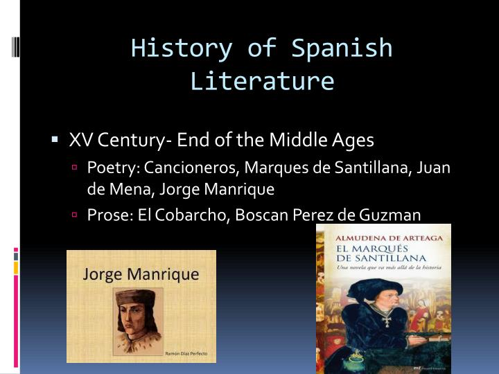 History of spanish literature1