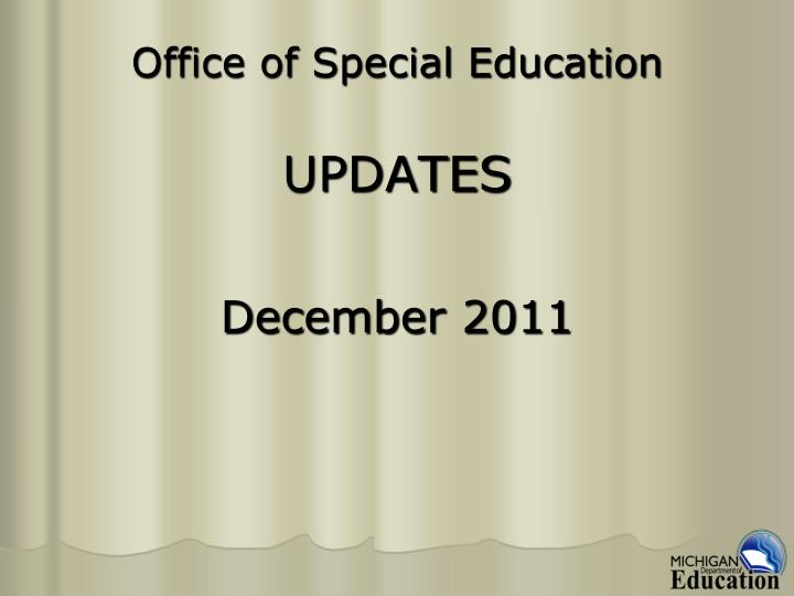office of special education updates n.