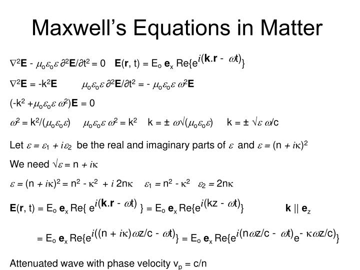 Maxwell's Equations in Matter