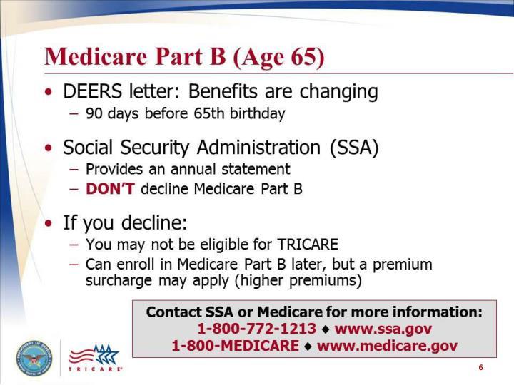 Medicare Part B (Age 65)