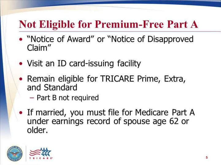 Not Eligible for Premium-Free Part A