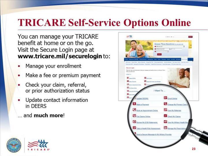 TRICARE Self-Service