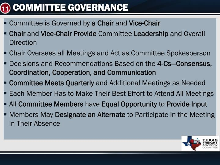 COMMITTEE GOVERNANCE