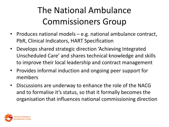 The National Ambulance Commissioners Group