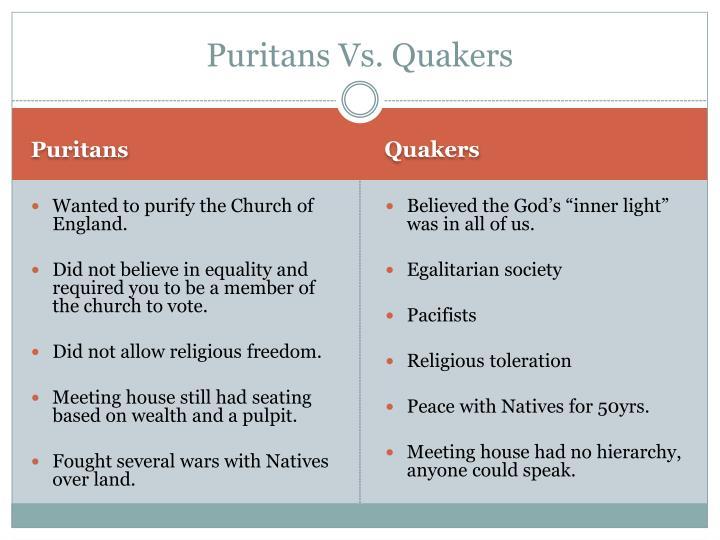 Puritans Vs. Quakers