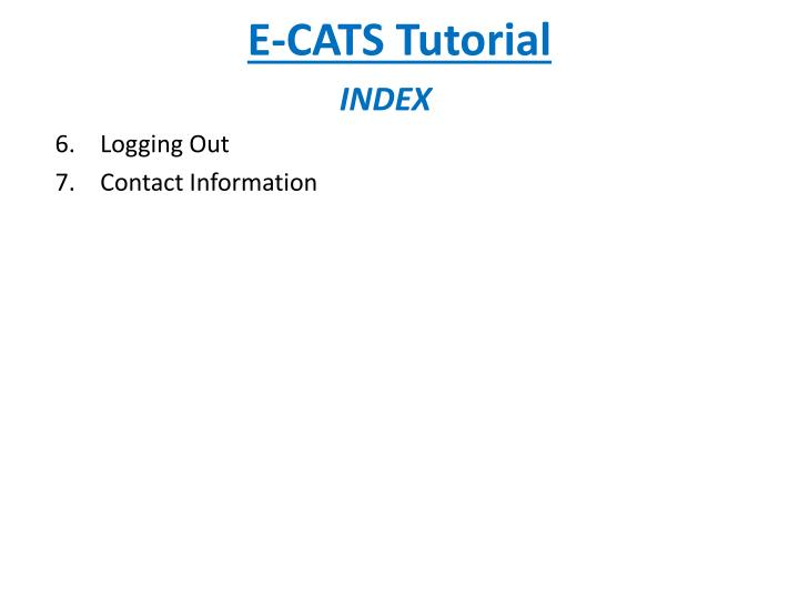 E cats tutorial1
