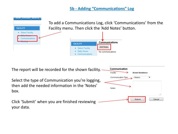 "5b - Adding ""Communications"" Log"