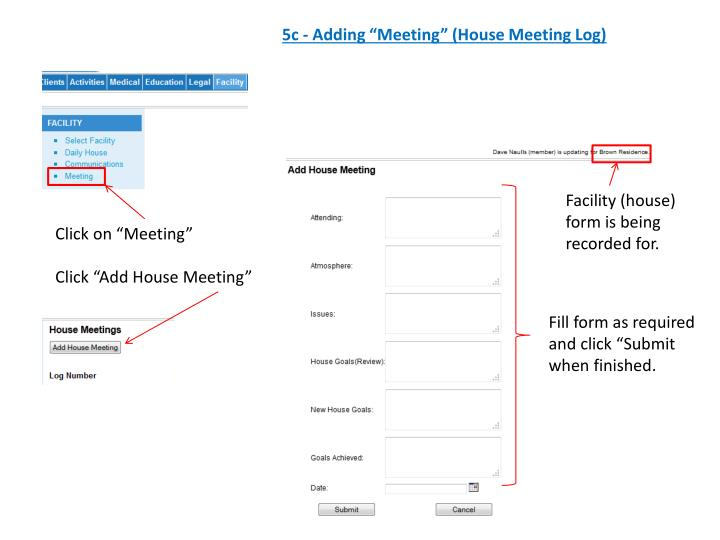 "5c - Adding ""Meeting"" (House Meeting Log)"
