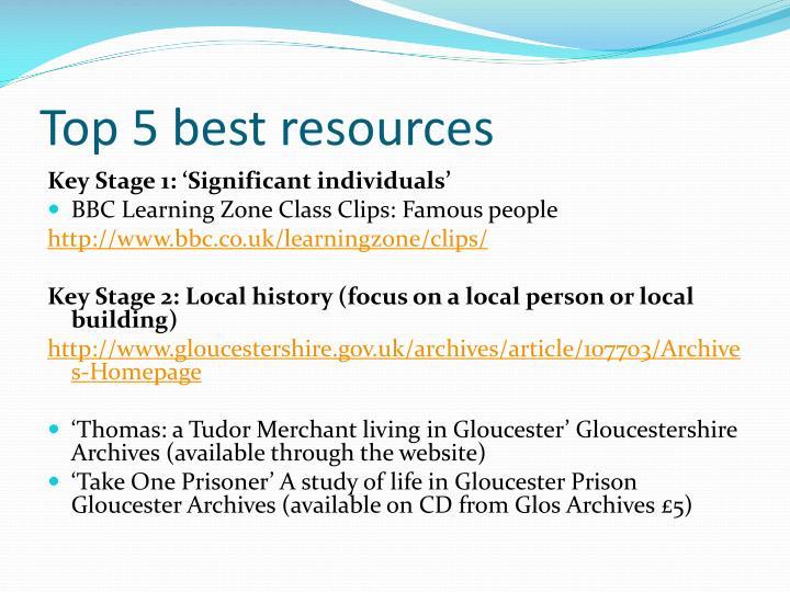 Top 5 best resources
