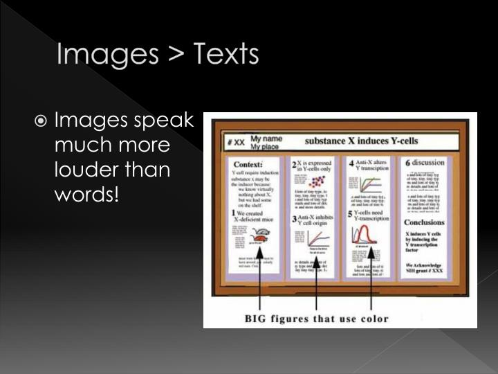 Images > Texts