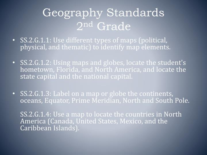 Geography Standards