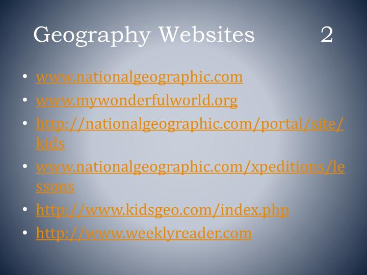 Geography websites 2