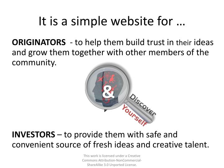 It is a simple website for