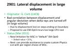 2901 lateral displacement in large volume