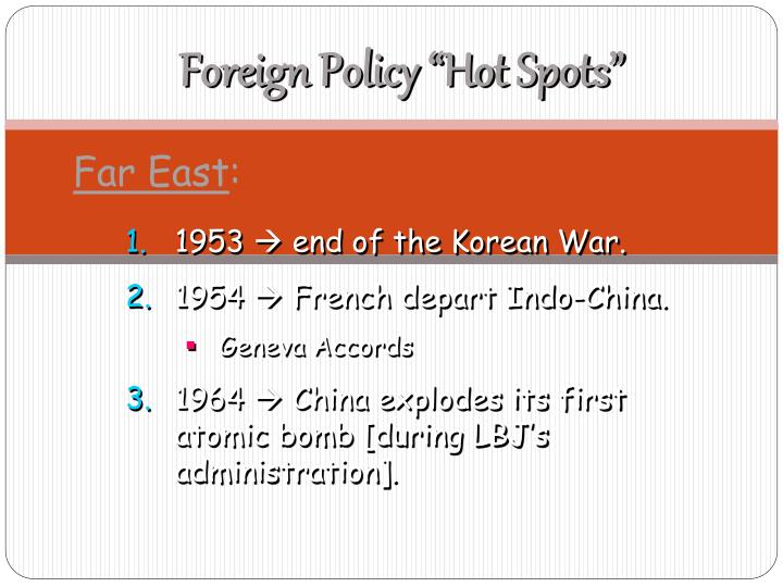 "Foreign Policy ""Hot Spots"""