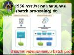 1956 batch processing1