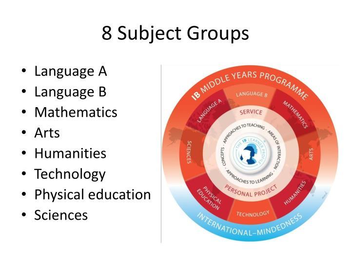 8 Subject Groups