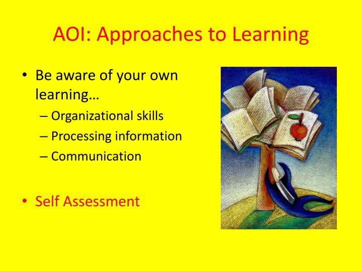 AOI: Approaches to Learning