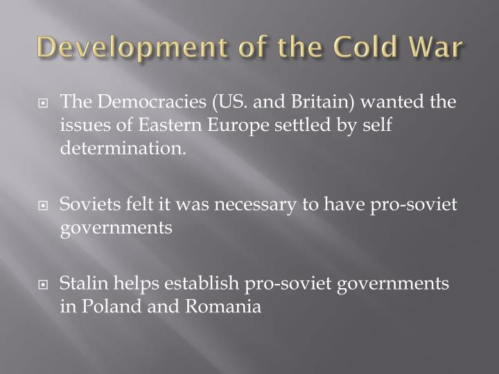 Development of the cold war