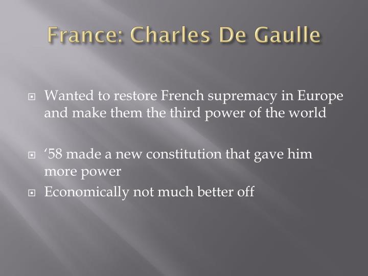 France: Charles De Gaulle