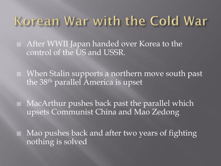 Korean War with the Cold War