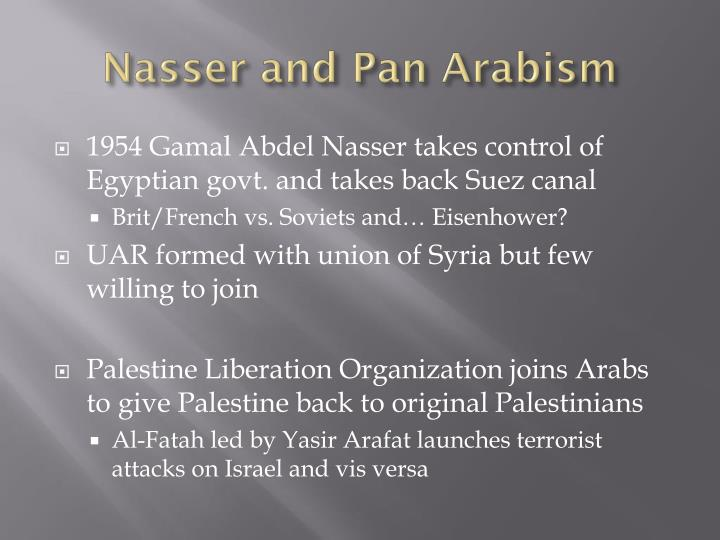 Nasser and Pan Arabism