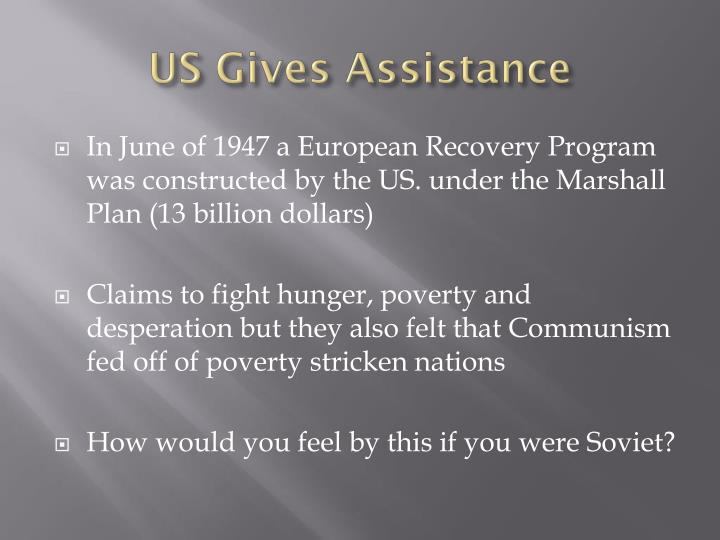 US Gives Assistance