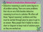 what is deductive reasoning