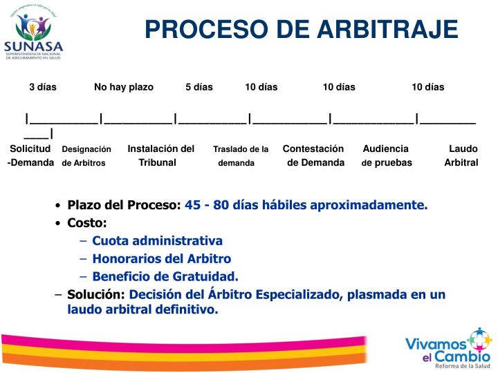 PROCESO DE ARBITRAJE