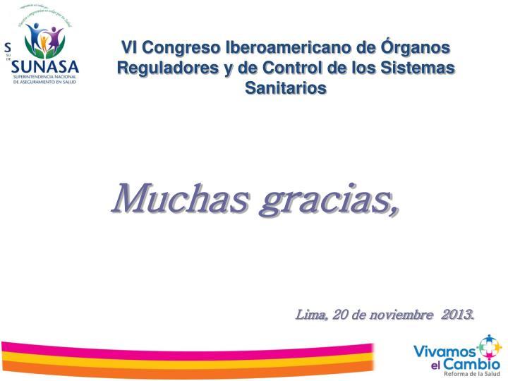 VI Congreso Iberoamericano de Órganos Reguladores y de Control de los Sistemas Sanitarios