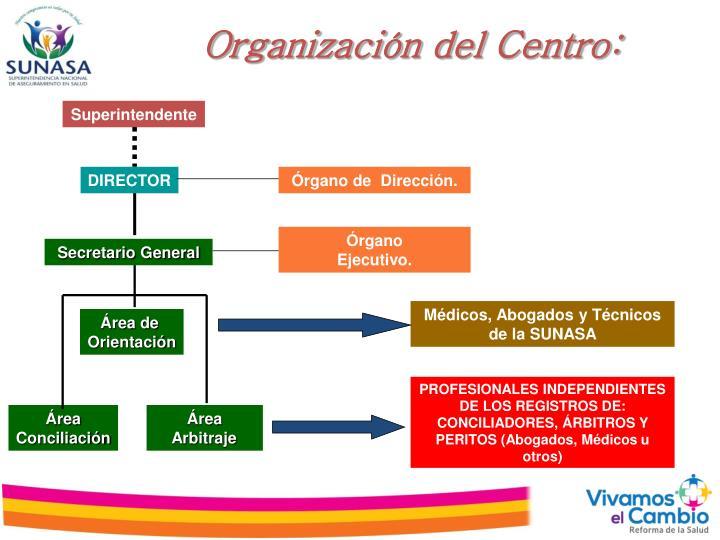 Organización del Centro: