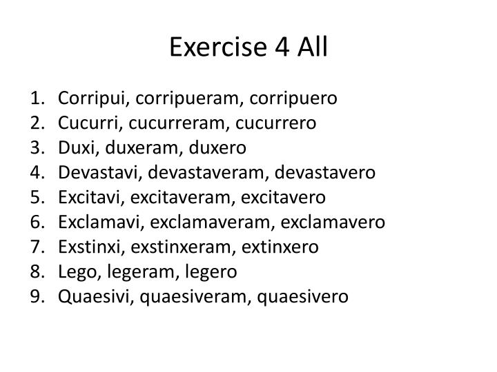 Exercise 4 All