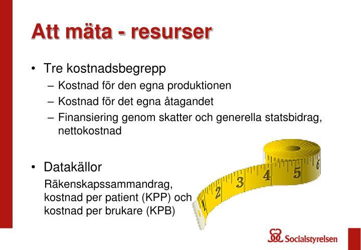 Att mäta - resurser