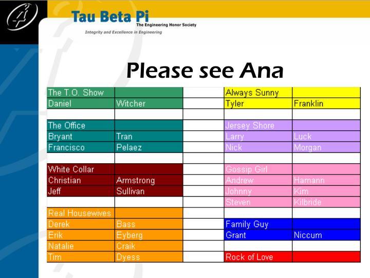 Please see Ana
