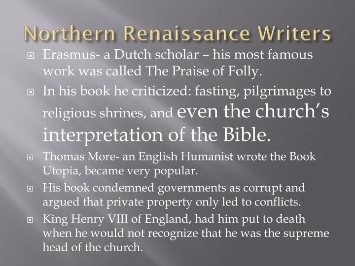 Northern Renaissance Writers