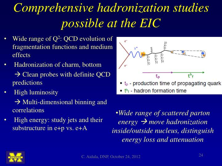 Comprehensive hadronization studies possible at the EIC